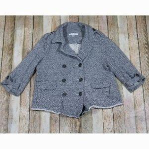 CAbi Shrunken Pea Coat Cardigan Jacket 393 Buttons
